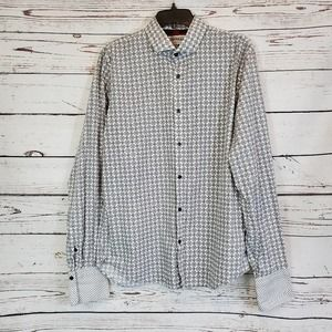 Express Mens Fitted Cuff Shirt Size Lg